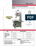 Stainless Steel Table Top Meat Band Saw