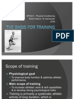 The Basis for Training