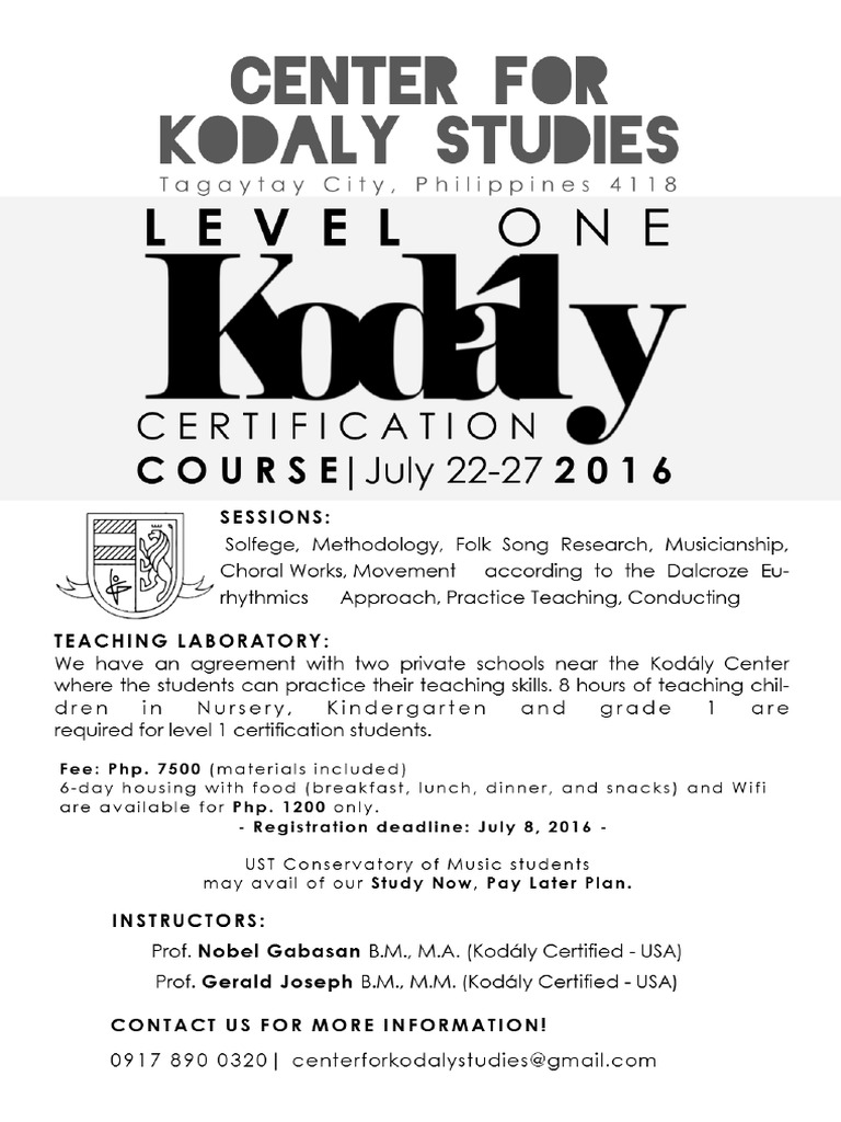 Kodly Certification Course