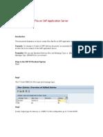 Creating an IDoc File on SAP Application Server