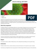 Master Programme in Infection Biology 2017_2018 - Uppsala University, Sweden