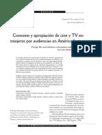 Consumo y Apropiación de Cine y TV Extranjeros Por Audiencias Latinoamericanas, Lozano