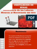 Resistencia de Las Labores Mineras Al Movimieto Del Aire