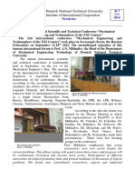Newsletter. Number 7. Institute for International Cooperation. Donetsk National Technical University.