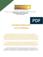 Alchimia Spirituala - Efecte Generale