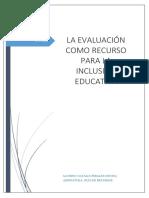 Actividad 4. La Evaluación Como Recurso Para La Inclusión Educativa. Natalia Perales Oncina
