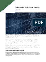 Pengertian Elektronika Digital Dan Analog