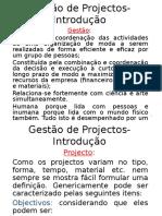 Semana 9 e 10 - Introducao Projectos