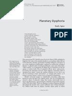Planetary Dysphoria - Apter, Emily