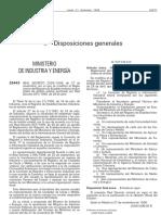 RD 2526-1998 Modifica El Reglamento de Registro de Establecimientos Industriales
