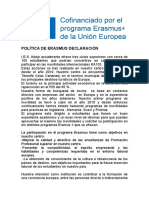 DECLARACIÓN DE POLÍTICA ERASMUS-2