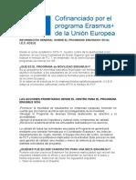 INFORMACIÓN GENERAL SOBRE EL PROGRAMA ERASMUS