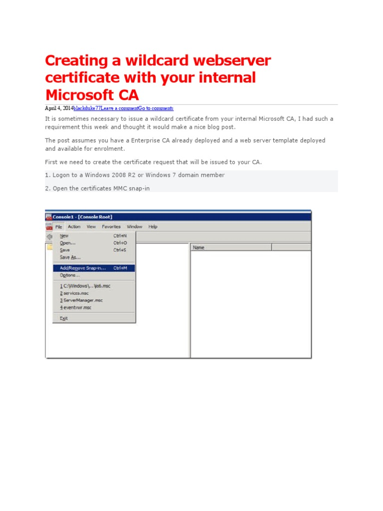 Web server certificate template image collections templates great web server template pictures inspiration example resume creating a wildcard webserver certificate with your internal yadclub Image collections