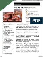 Hoja de Impresión de Barritas de Granola Con Frambuesas