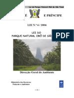 Lei Do Parque Natural Obô de São Tomé