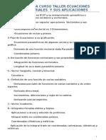 Calculo Vectorial Curso Formacion Docente
