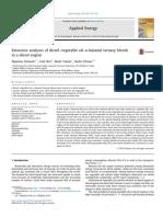 Extensive Analyses of Diesel-Vegetable Oil-n-Butanol Ternary Blends in a Diesel Engine