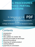 3_casting Procedures for Fixed Partial Denture