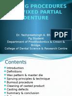 3_casting Procedures for Fixed Partial Denture
