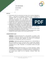Resolución N°3 2016-II/JF-Edu