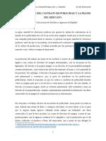 Datos Técnicos Del Contrato de Publicidad y La Práxis Del Mercado