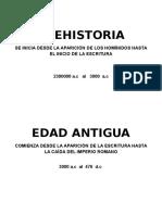Linea de Timepo Historia Universal