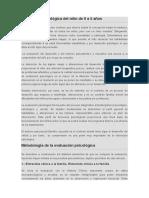 Valoracion Psicologica 0-5 Años