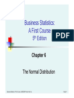 Chapter 6 the Normal Distribution - 1 Slide