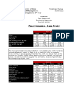 Pace Company Case Study Solution - Strategic Management Accounting