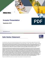 Final Investor Presentation Sept 2016