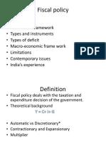 E Fiscal Policy