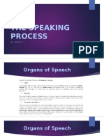 The Speaking Process