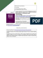 Almeida a Survey of Mathematics Undergraduates (1)