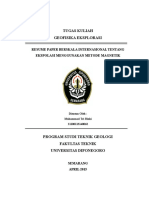 Tugas Rangkuman Paper Geofisika