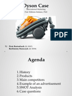 Dyson - Presentation about company and Case Study