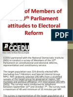 CCEDU MP Survey on Electoral Reform Sept 2016