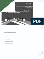 Documents concernant l'examen de la gouvernance pangouvernementale en langues officielles (1)