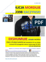Policja Morduje PDO398 Kaczynski ekshumuje ofiary mordu PDO1 Studia Slavica et Khazarica FO von Stefan Kosiewski ZR ZECh Votum Separatum 20161025 Magazyn Europejski Protektorat Ukraina
