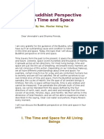 The Buddhist Perspective on Time and Space