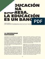 La educación es una empresa. La educación es un banco. C. López Andrada.