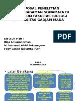 Proposal Penelitian Keanekaragaman Squamata di Arboretum Biologi UGM