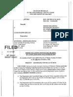 Lewis Eugene Kelly PPO violation order