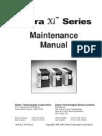 Zebra Xi Series Maintenance Manual for 105s-140xi