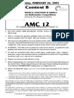 2003AMC12B
