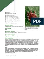 Raoiella Indica Datasheet Palm 2014