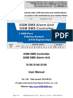 S130 -S150 GSM SMS Controller Alarm User