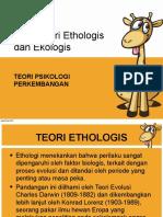 Teori Ethologi Dan Ekologi