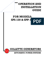Gillette Generators - Operation and Installation Guide