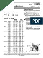 Specification Sheet - Kohler Gas Generator