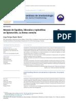 Manejo de Líquidos, Lidocaína y Epinefrina en Liposucción